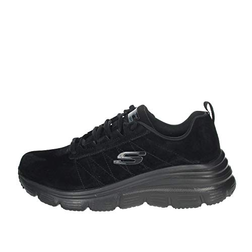 Skechers Fashion Fit, Sneakers Woman Casual with Memory Foam Black 149472 Nero (Numeric_36)
