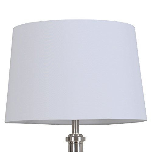 Linen Overlay Modified Drum Large Lamp Shade White - Threshold™