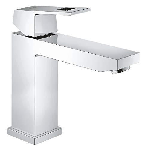Grohe Eurocube - Grifo de baño, cuerpo liso, caño medio alto, tecnología Grohe EcoJoy (Ref. 23446000)