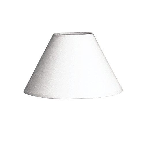 Rayher 2302702 - Pantalla para lámpara (Redonda, 19,5 cm de diámetro, 12,5 cm de Altura), Color Blanco