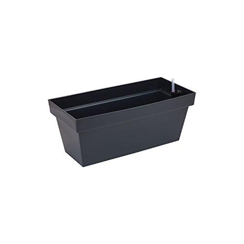 Fioriera vaso per piante Cube Case con sistema d'irrigazione, capacità 8 Lt , colore: antracite