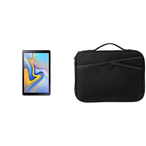 Samsung SM de t590nzka DBT Galaxy Tab a 10.5Wi-Fi–Tablet PC (Snapdragon 450, 3GB RAM, Android 8.1) Negro Negro + Amazon Basics - Funda para Tablet, 25,4 cm, Color Negro