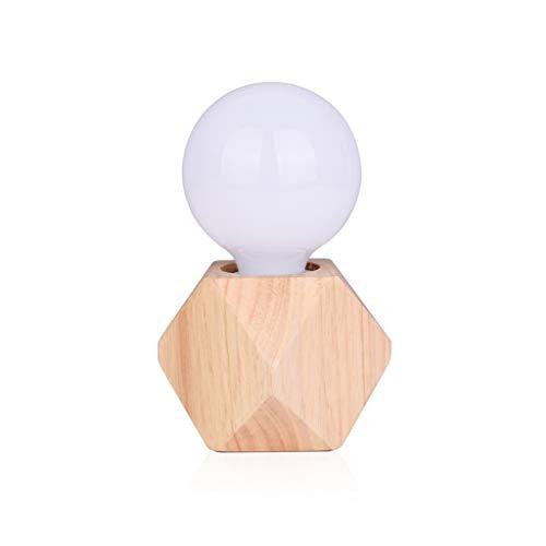 Chambre Lampe de Table Veilleuse Simple Creative Nordic Glass Plug-in Économe en énergie Lumière Chaude Veilleuse (Color : Warm Light)