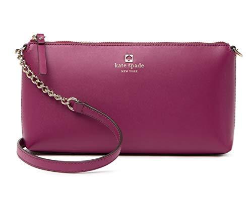 Kate Spade Weller Street Declan Leather Women's Crossbody Bag Purse Handbag (Rhubarb Tart)