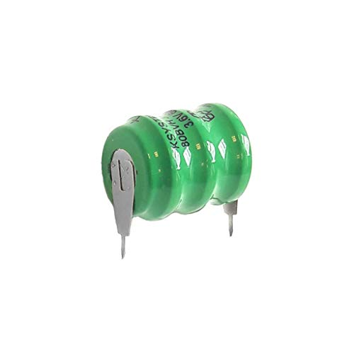 Batterie de secours rechargeable 3,6 V 80 mAh Ni-Mh 2 broches