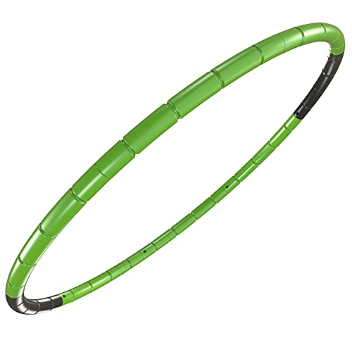 Kids Fitness Hoop - Weight & Size Adjustable - Children Body Shaping Gymnastics Toys - Diameter 26.5 Inches,Green
