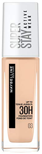 Maybelline New York Maybelline Superstay Activewear 30H Base De Maquillaje, Tono 03 True Ivory 120 g