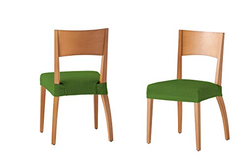 Housse pour chaise housse de chaise assise 24x30x6 cm vert, 2 Unités
