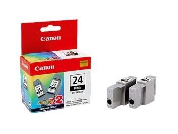 Canon Twin Pack BCI-24 Black Original Multipack - Cartucho de tinta para impresoras (Original, Impresión por inyección de tinta)