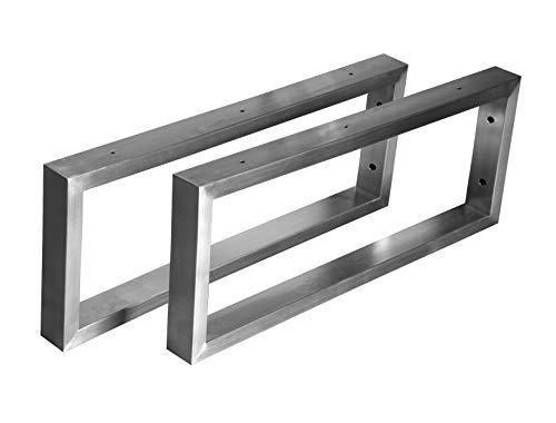 CHYRKA® Wandkonsole Edelstahl 201 40x20 Träger Regalträger Regalhalter Konsole Waschbecken (200x400 mm - 1 Paar)