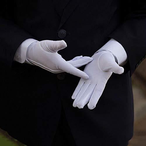 Axiba Männer weiße Smoking Handschuhe Formale Uniform Guard Band Butler