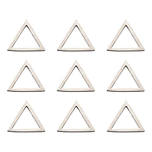PandaHall 30 anillos de eslabones de acero inoxidable con forma de triángulo, para hacer joyas, 20 x 20 x 2 mm