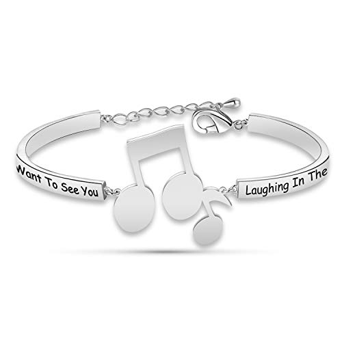 Purple Rain Bracelet Prince Song Lyrics Bracelet I Only Want to See You Laughing in The Purple Rain Prince Fans Gift(HBR-Purple Rain)