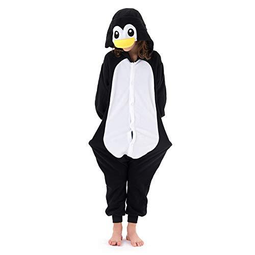 Beauty Shine Kids Onesies Unisex Child Animal Black Penguin Costume Halloween Cosplay Pajamas (95, Black Penguin)