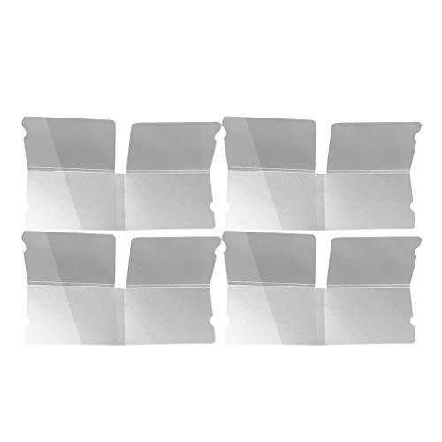 YARNOW 4 Pcs Couvercle de La Bouche Boîte de Rangement Pliable en Plastique Clip de Stockage Cas Étanche à La Poussière Boîte Bouche Porte-Moufle Conteneur