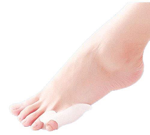 2x Silikon Soft-Gel Zehenspreizer, Zehentrenner, für Schneider Ballen Therapie, Bunionette-Schutz, kleiner Zeh, Vorbeugung von Schmerzen und Entspannung der Füße, für Damen, Herren und Kinder