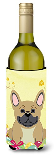 Caroline tesoros del bb6010literk Bulldog Francés de Pascua crema botella de vino bebida Insulator Hugger, 750ml, Multicolor