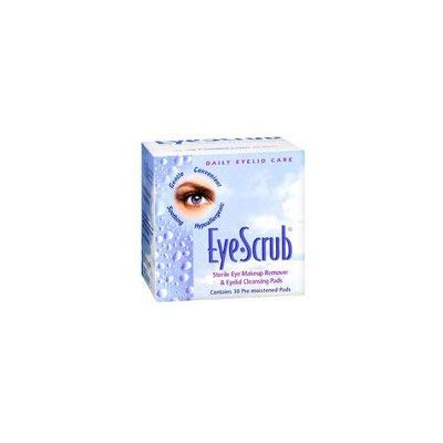 Eye-Scrub Eye Scrub Sterile Eye Makeup Remover And Eyelid Cleansing Pads, 30 each (Pack of 2) by Eye-Scrub