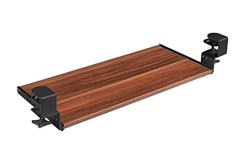 FIX&EASY Guías abrazable con bandeja 800X300mm tono ciruelo, abrazaderas altura ajustable negro, corredera extraible negro 300mm con bloqueo, set cajón con rieles para teclado ratón laptop