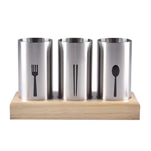 Cabilock Carrito de Utensilios de Cocina Soporte para Palillos de Acero Inoxidable Rejilla de Secado Cesta Vajilla Escurridor para El Hogar Cocina Restaurante