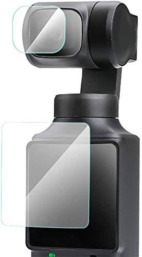 Linghuang Pellicole Kit in Vetro Temperato 4 pezzi per Xiaomi FIMI Palm Fotocamera Accessori 2 Schermi Pellicola Protettiva e 2 Obiettivi Protezioni