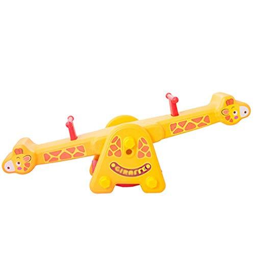 Xyanzi ertongwanju Seesaw,Double Children Teeter Equipment Play Toy for Garden Playground Patio Outdoor Indoor Green/Yellow,133x38cm52.3x14.9' (color : Yellow)