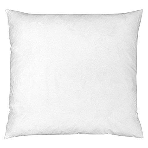Riva Paoletti 100% Finest White Duck Feather Cushion Inner Pad, 60 x 60cm, Cotton, Ivory, 58 x 58cm