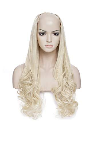 """24""""(60CM)Extension a Clip Cheveux Longue [ 1 Pièce à 7 Clips ] Une Bande Pour Tête Complète [Blond Blanchi]"""