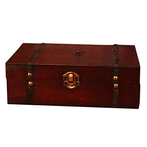 Junta Wrubxvcd, Box En el Tesoro, Chucherías De Tarot Juego de Almacenamiento Caja de Madera Mapa de la antigüedad en el Poker