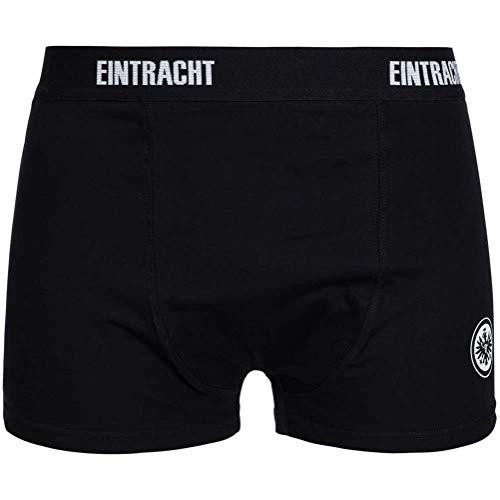 Eintracht Frankfurt Boxershorts 2er Pack (XL, schwarz/grau)
