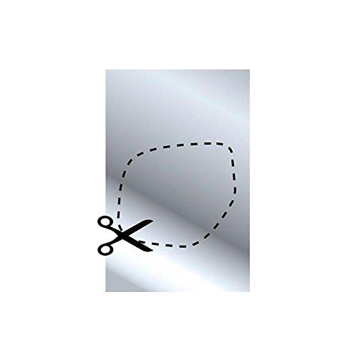 1 x multifunctionele spiegel op maat te snijden, afmetingen: 202 x 126 mm.