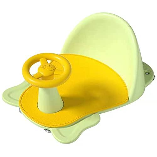 GLYIG Asiento De Baño Para Bebés, Niñas Y Niños Pequeños, Proporciona Soporte Para El Respaldo Y Ventosas Para Mayor Estabilidad, Asiento Portátil Para Bañera De Bebé, Asiento De Baño Para 6-12 Meses