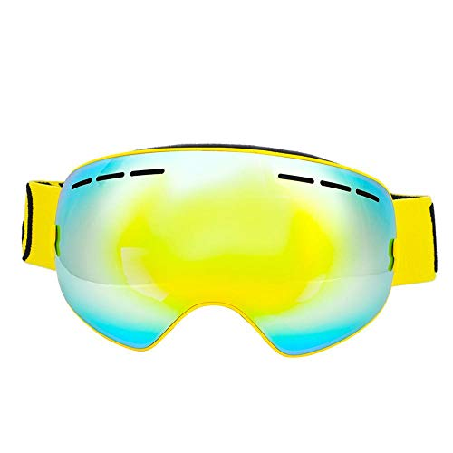 Dilwe Skibril, dubbele lens, UV-bescherming, anti-condens, sneeuwbril voor wintersport, motorfiets, fiets, outdoor sport