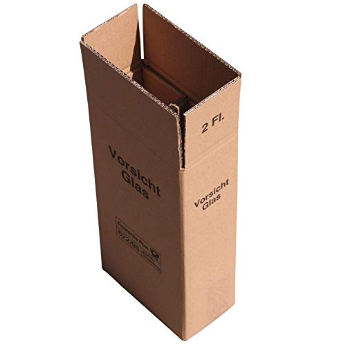 5 x 2er Weinkarton Versandkarton 2-wellig für 2 Flaschen UPS und DHL geprüft