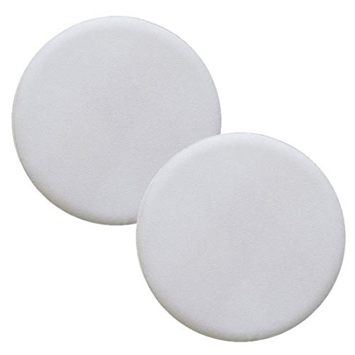 Levoberg - 2 fundas de taburete redondas de piel sintética con esponja antideslizante (30 cm), colo