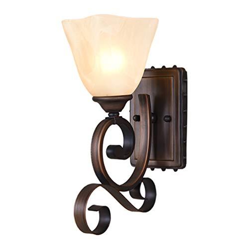 Marron en Fer forgé Mur Lampe Lignes Design Mur Contemporain créatif Mur éclairage Chambre Minimaliste Lampe E27 Chevet Lampe LED Salon lumières