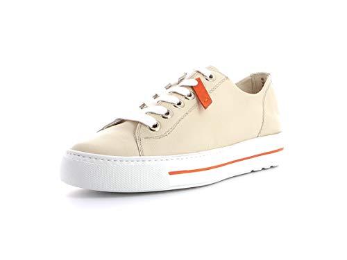 Paul Green Damen Sneaker 4960, Frauen Low-Top Sneaker, Woman Freizeit leger Halbschuh strassenschuh schnürer Lady,Biscuit/ORANGE,38.5 EU / 5.5 UK
