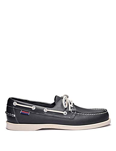 Sebago Docksides Slip On Shoes 11.5 D(M) US Blue Navy Leather