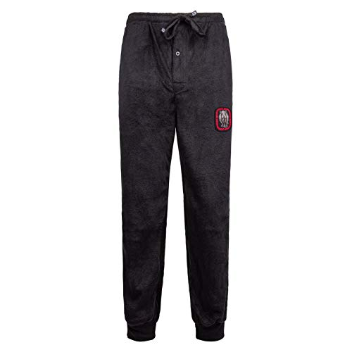 Ecko Unltd. Men's Minky Fleece Jogger | Moisture Wicking Pajama Pant 100% Polyester Black