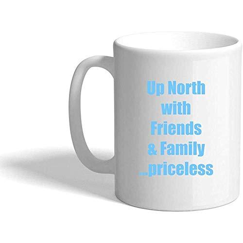 Hellblauer hoher Norden mit Freunden u. Familie Unbezahlbare Keramikkaffeetasse-Weiß-Tasse