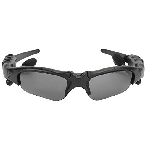 Limouyin Gafas de Sol Bluetooth, Gafas de Sol Bluetooth inalámbricas 5.0 Inteligentes para Hablar, Escuchar música, Gafas de conducción Deportiva con Auriculares estéreo(Negro + Amarillo)