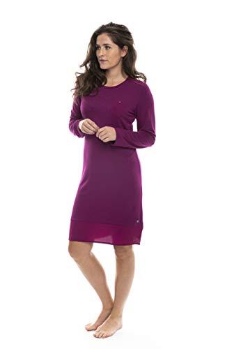 Pastunette Deluxe nachthemd met lange mouwen donkerroze of zwarte nachtjapon/loungewear maat 8 tot 24