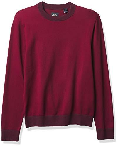 Dockers Long Sleeve Crewneck Sweater Camisa Henley, Vino Tinto Ciclismo, XXL para Hombre