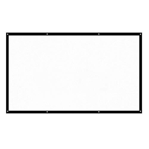 H120 120 '' HD portátil proyector de pantalla de 16: 9 Blanca 120 pulgadas de pantalla de proyección de cine en casa plegable de pared de proyección en Interior, Exterior Portátil LED Cine en Casa
