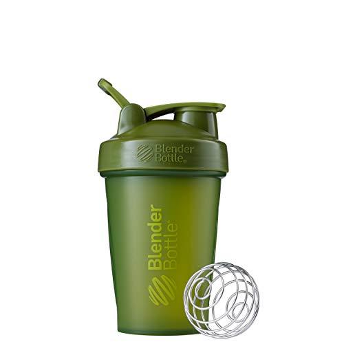 BlenderBottle Classic Loop - Botella Mezcladora de Batidos de proteínas con batidor Blenderball, Verde (Moss), 590ml