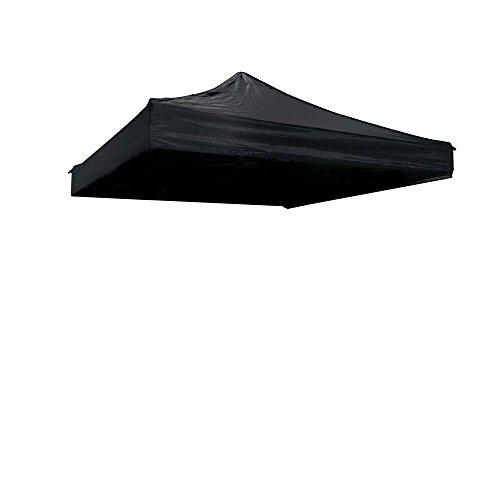 Toit de toile pour tente pliante noire 300x600cm - Cablematic