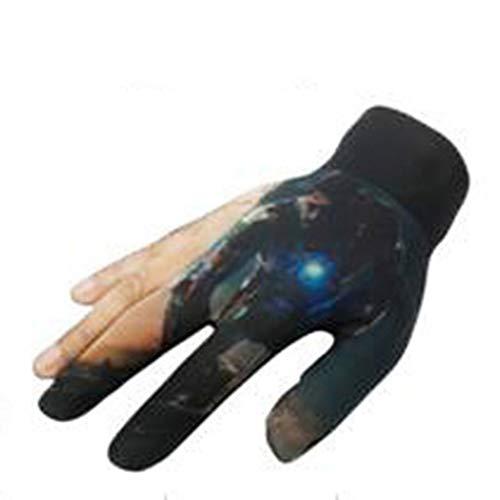 Eickawa 1pc Billard Handschuh Left Hand 3 Fingers Show Handschuh Elastic Stretchable Pool Queue Snooker,Right Hand Color 18