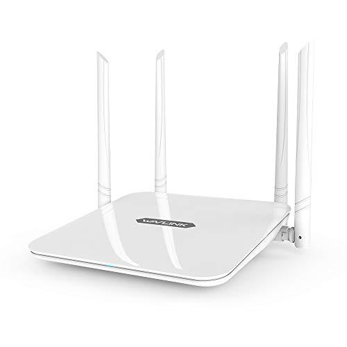 WAVLINK WiFi 無線LAN ルーター 11ac1200 300Mbps+867Mbps 2.4G+5Gデュアルバンド ギガビット wifiルーター WIFI無線LAN親機5dBiアンテナ外付け ホワイト
