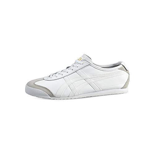 Onistuka Tiger Mexico 66 - Sneakers Basse da unisex da adulto, colore bianco (white/white 0101), taglia 46