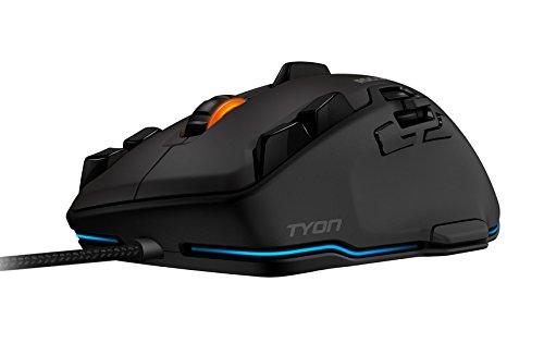 ROCCAT Tyon All Action Multi-Button Gaming Laser-Maus (8200dpi, 14-Tasten, USB) grau/schwarz